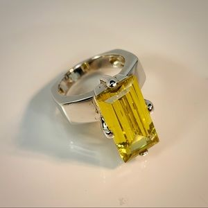 Jewelry - 925 Sterling Silver Citrine Ring